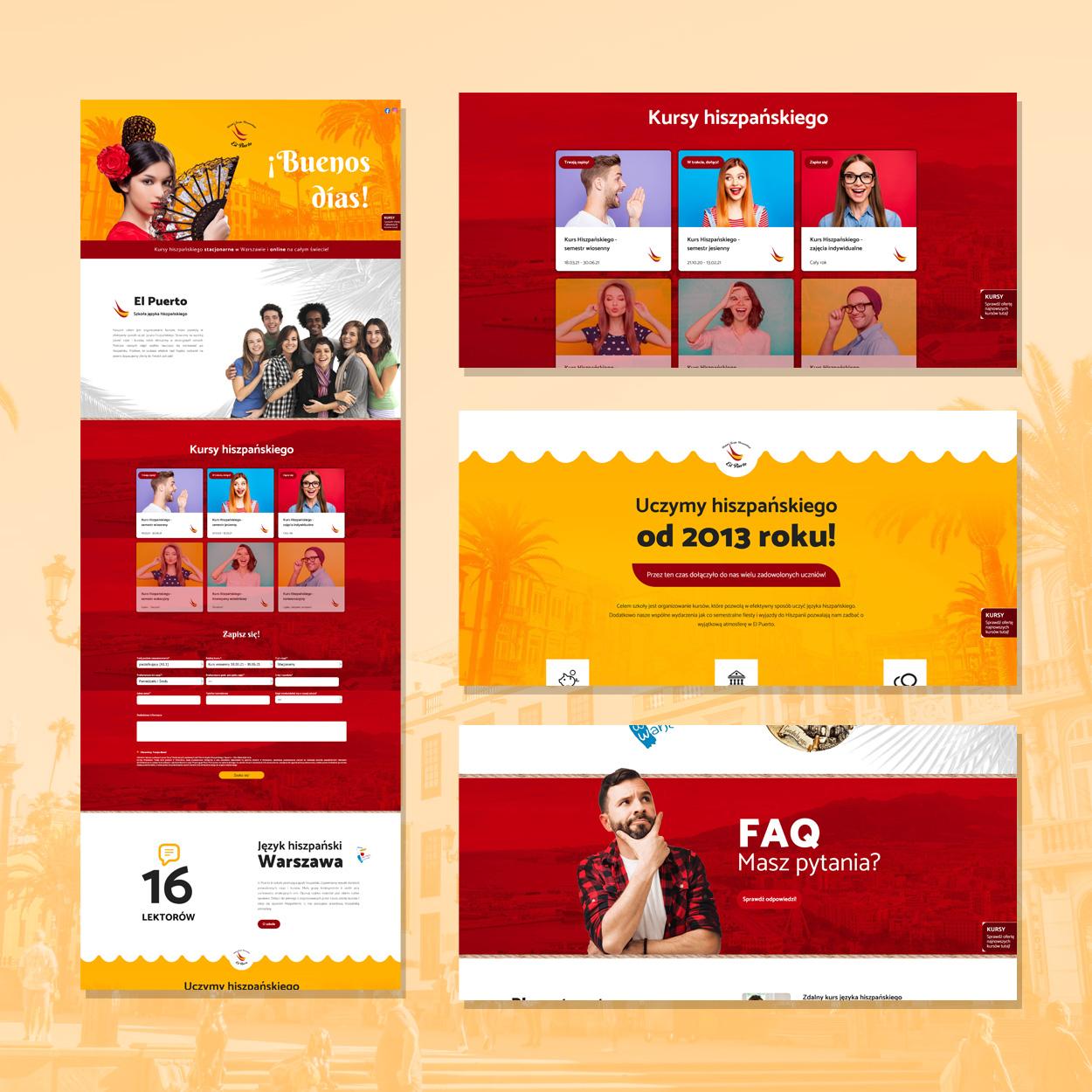 strona internetowa dla szkoly jezykowej hiszpanskiego elpuerto 2 - Projektowanie stron www - Szkoła Języka Hiszpańskiego ElPuerto