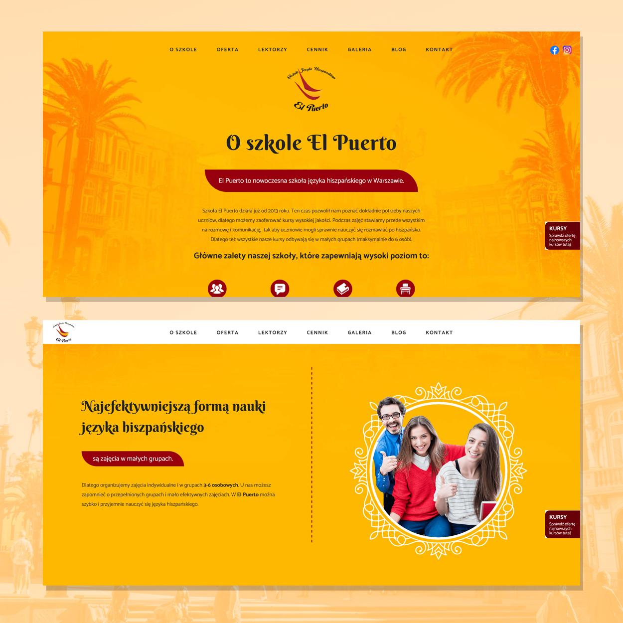 strona internetowa dla szkoly jezykowej hiszpanskiego elpuerto 3 - Projektowanie stron www - Szkoła Języka Hiszpańskiego ElPuerto