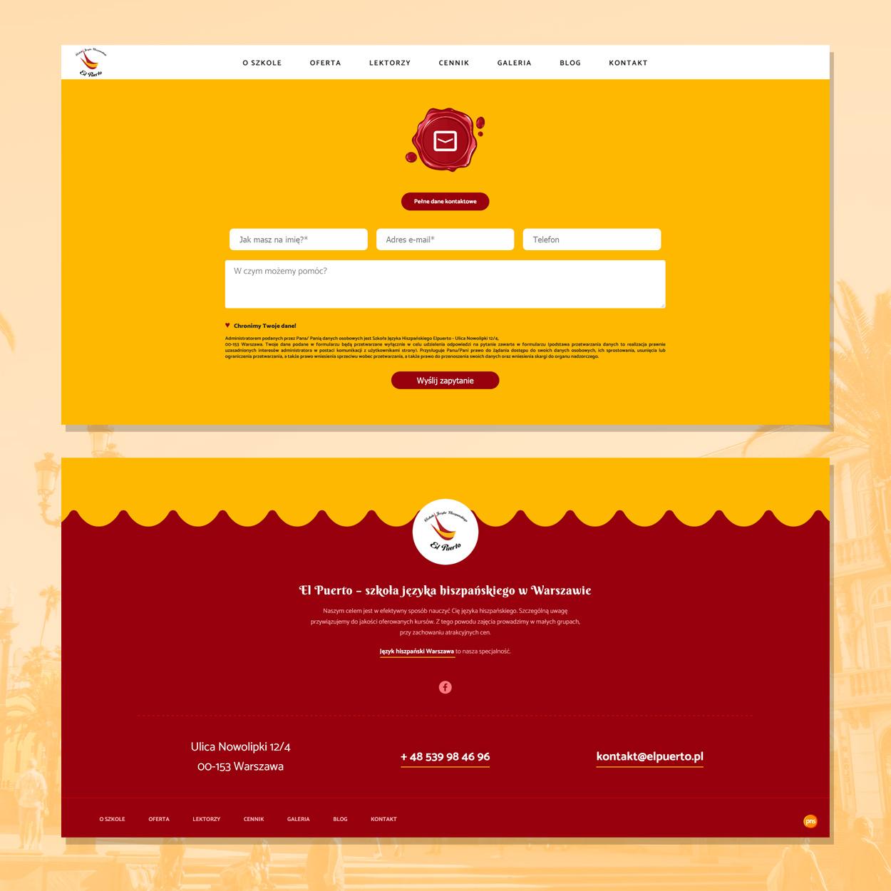 strona internetowa dla szkoly jezykowej hiszpanskiego elpuerto 4 - Projektowanie stron www - Szkoła Języka Hiszpańskiego ElPuerto
