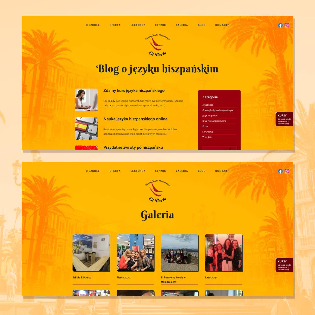 strona internetowa dla szkoly jezykowej hiszpanskiego elpuerto 5 - Projektowanie stron www - Szkoła Języka Hiszpańskiego ElPuerto