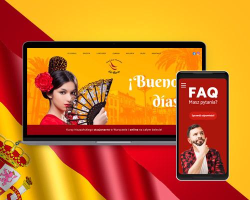 strona internetowa dla szkoly jezykowej hiszpanskiego elpuerto min - Projektowanie stron www - Szkoła Języka Hiszpańskiego ElPuerto