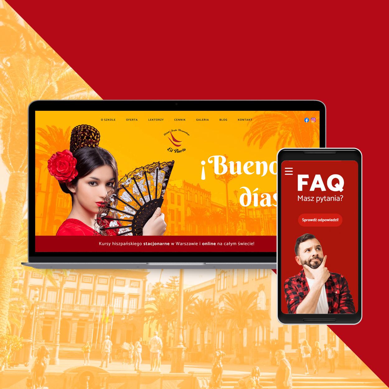 strona internetowa dla szkoly jezykowej hiszpanskiego elpuerto - Projektowanie stron www - Szkoła Języka Hiszpańskiego ElPuerto